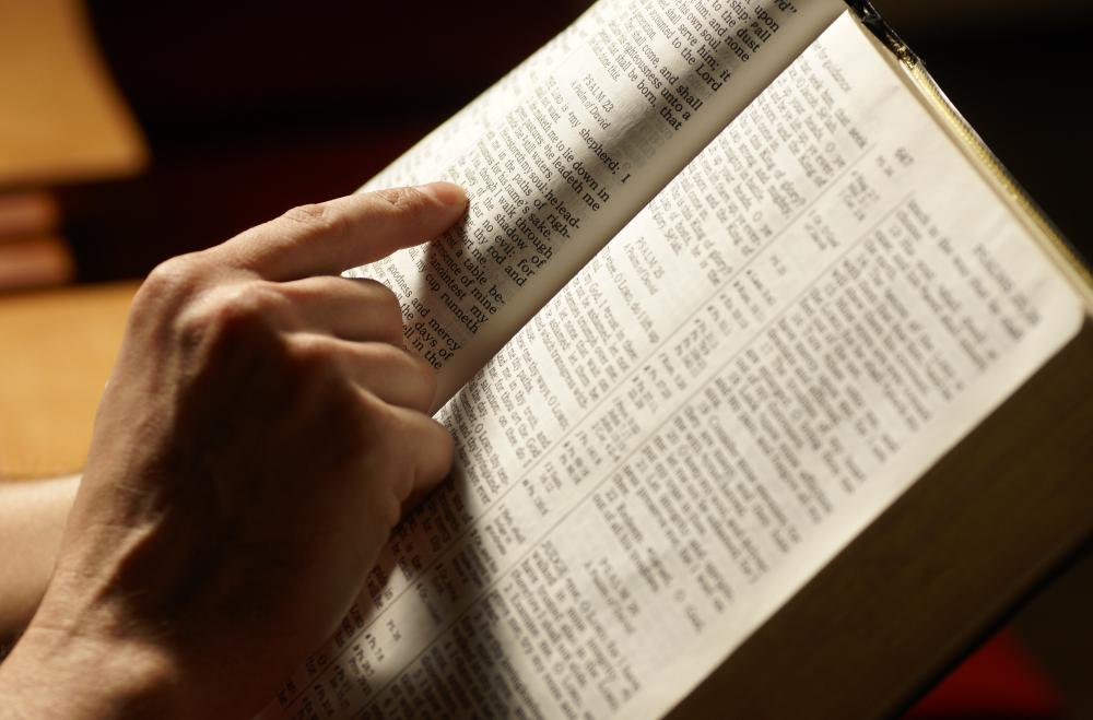 Some people seek spiritual guidance by reading the bible.
