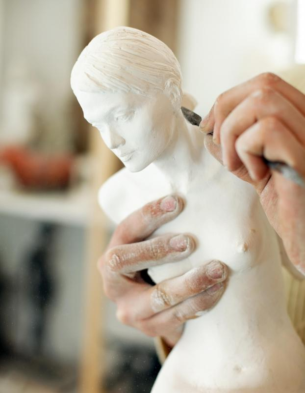 Resin sculptures begin with a model made of wax, clay, or another material.