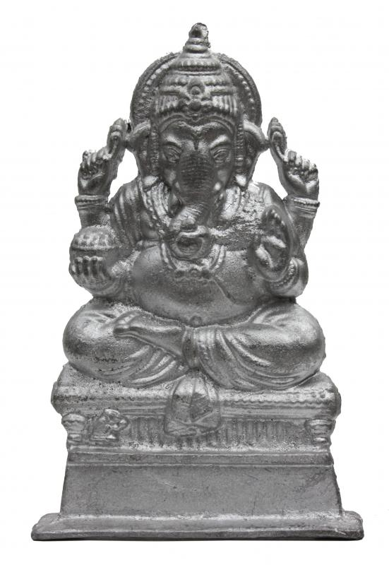 Pewter figurine of Ganesha, who is celebrated in September.