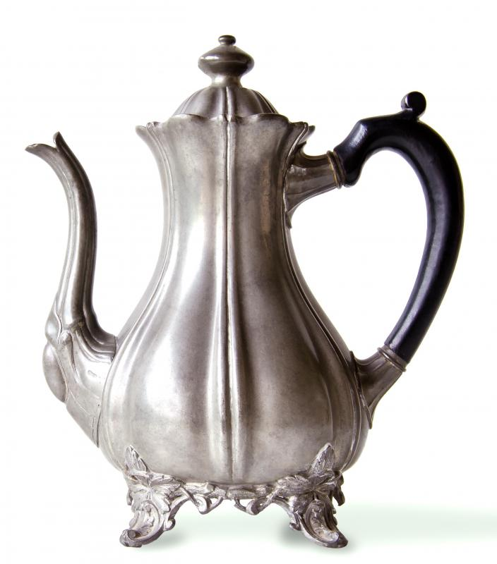 An antique teapot from a flea market.