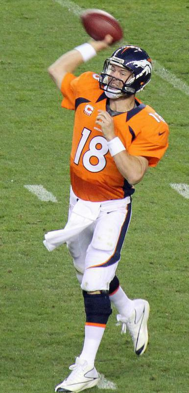 Peyton Manning, who has played for the Denver Broncos and the Indianapolis Colts, is considered one of the best quarterbacks of his generation.