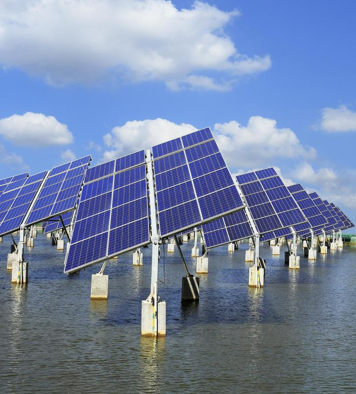 Solar panels can provide backup power.
