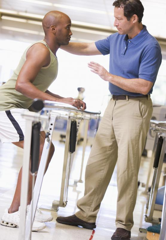 A physiotherapist assistant works with a licensed physiotherapist to help athletes prevent certain sports-related inuries.
