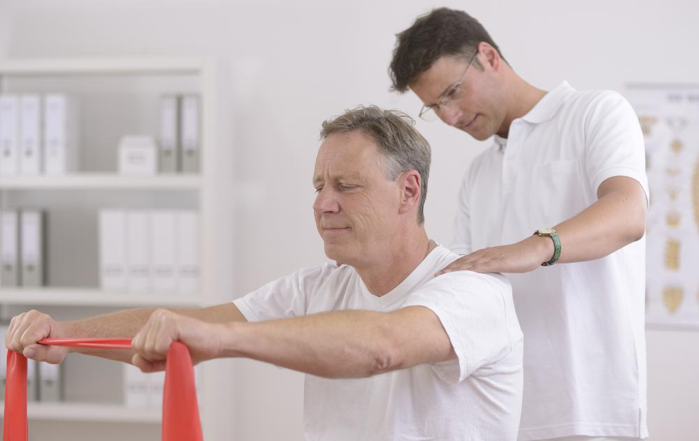 Physical therapy is helpful to those with osteoporosis.