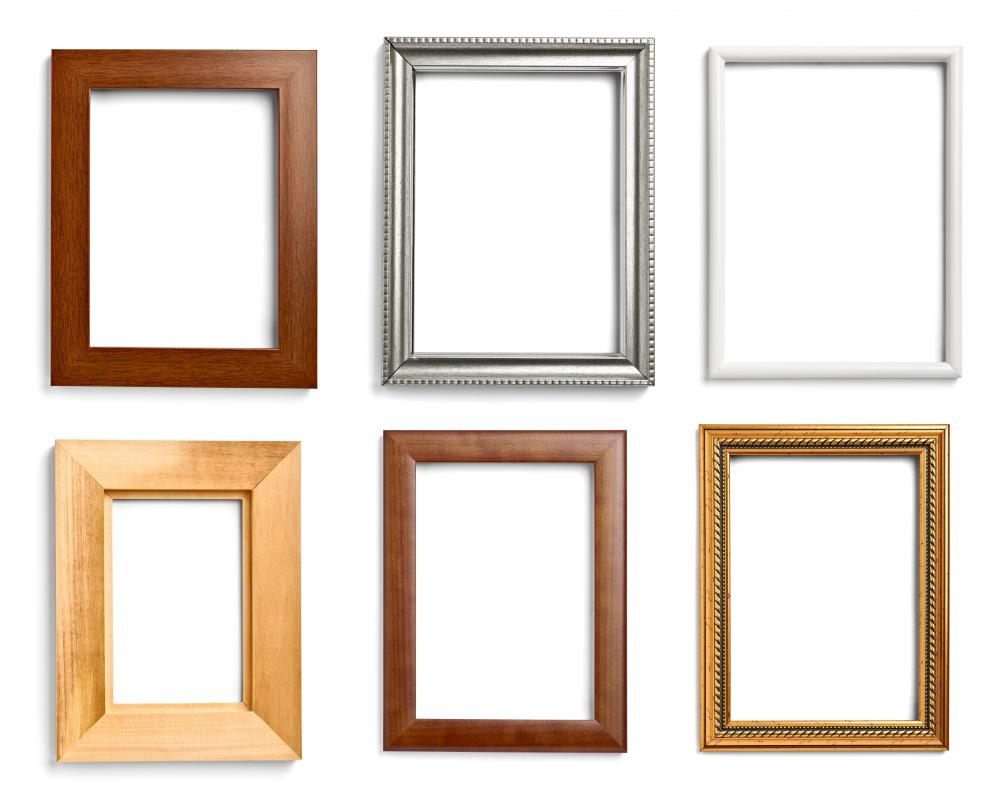 Painting picture frames may be an appropriate wood project for kids.