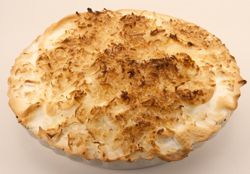 Meringue is often used as a topper on pies.