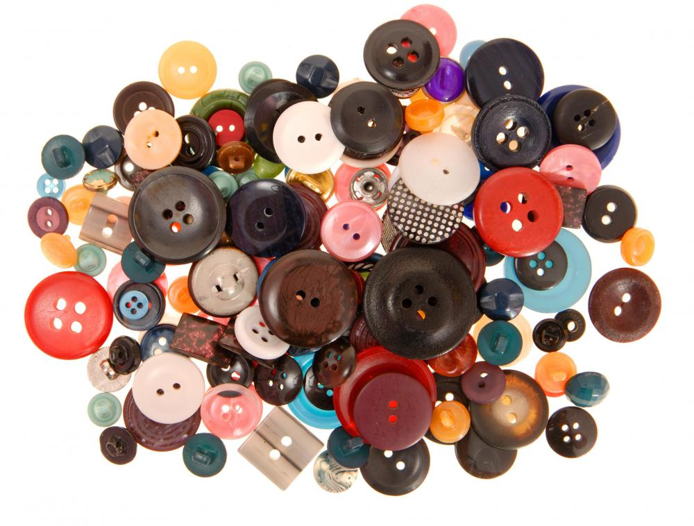 Buttons can be used for different craft projects.