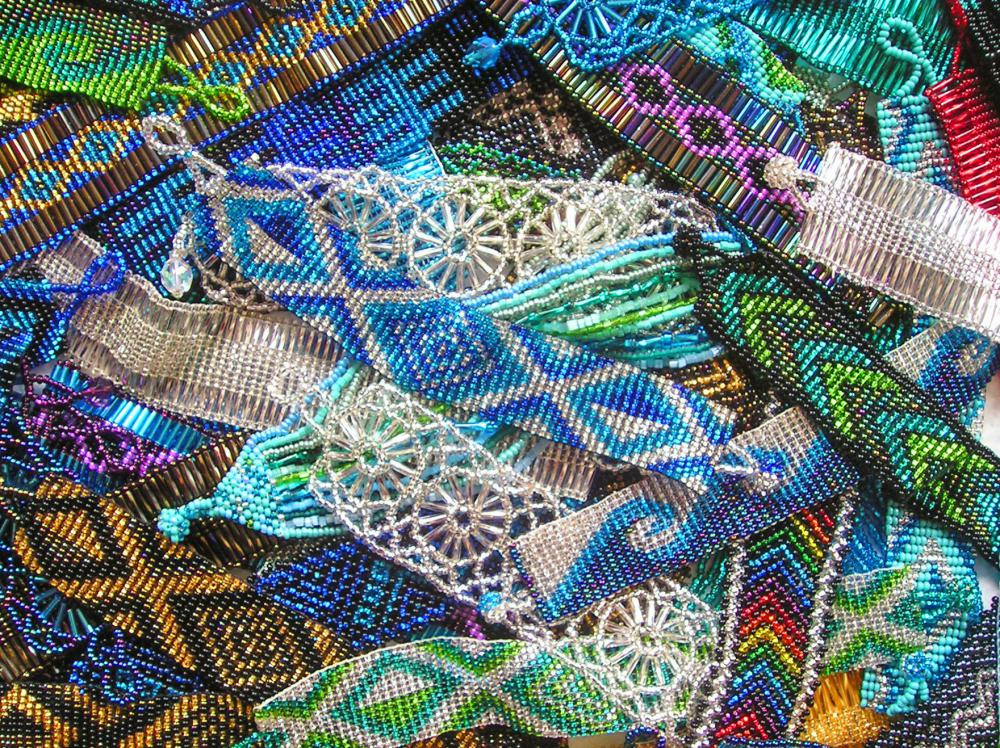 Bead looms can be used to make bracelets.