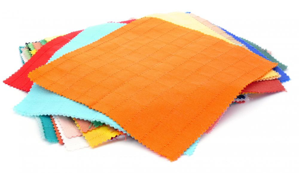 Fabric is often used in scrapbooking.