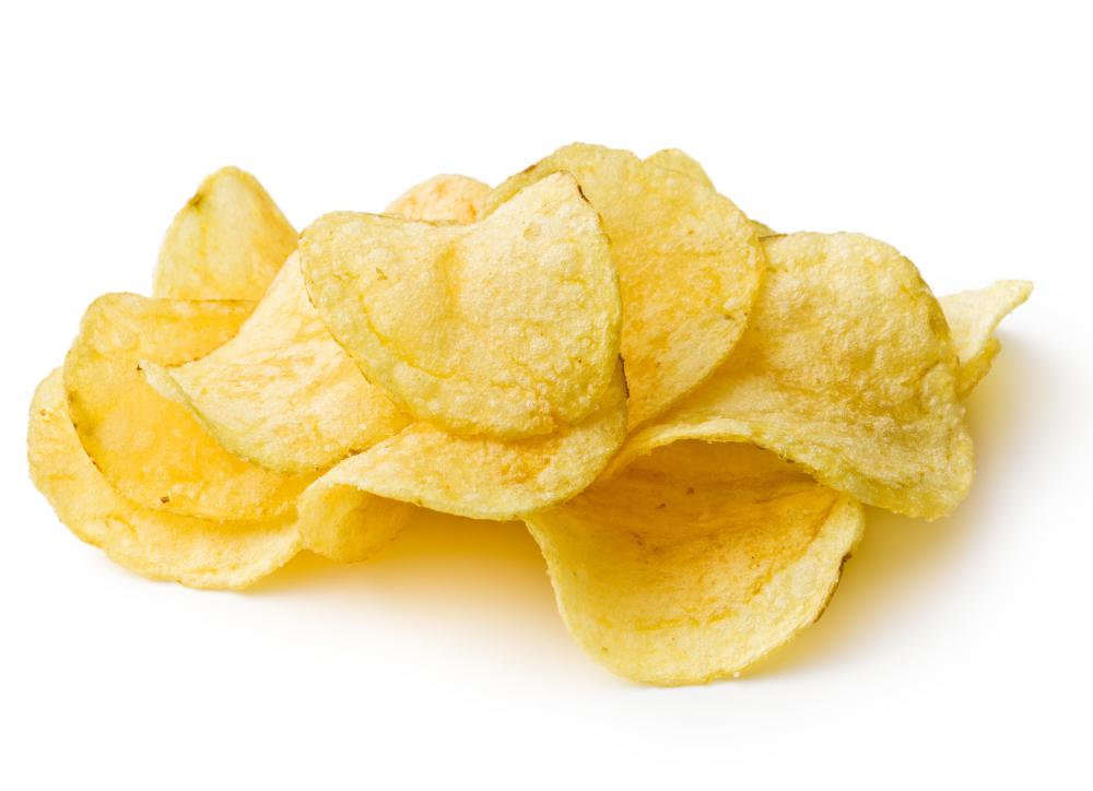 Potato chips are very popular vegetable chips.