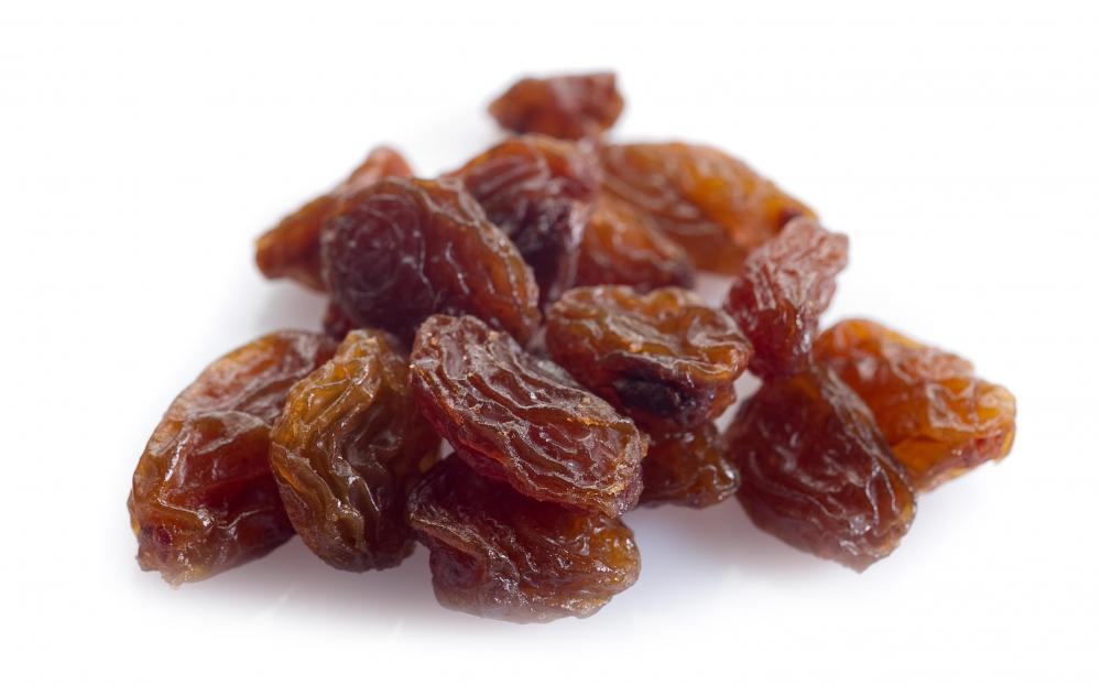 Raisins are dehydrated grapes.