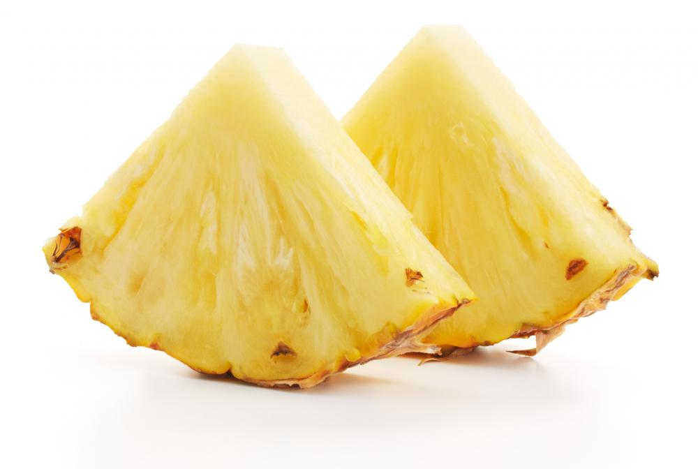 A pineapple is a type of tropical fruit.