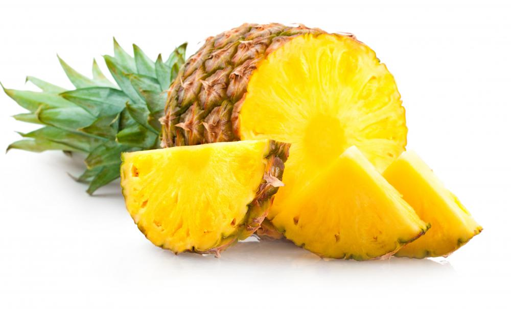 Pineapple is one ingredient in fruit cocktail.