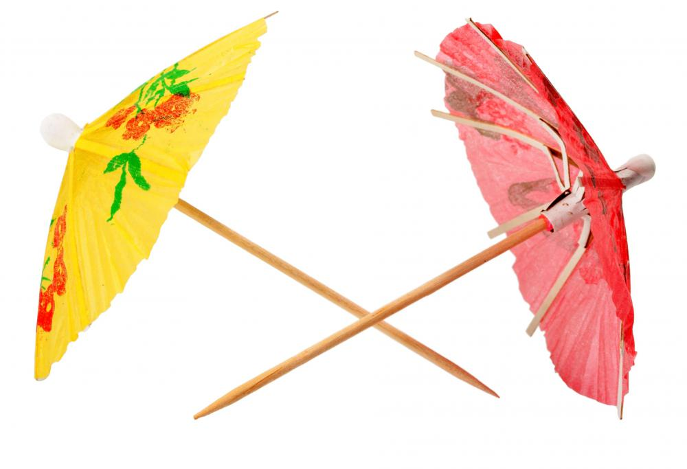 Cocktail Umbrellas Are Used As Colorful Garnishes With Frozen And Mixed Cocktails