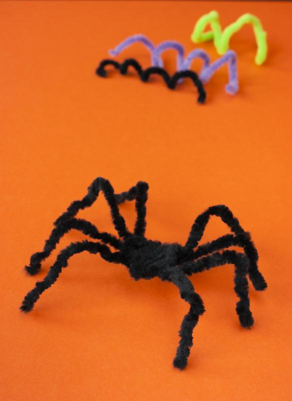 Pipe cleaners can be used to make Halloween crafts.