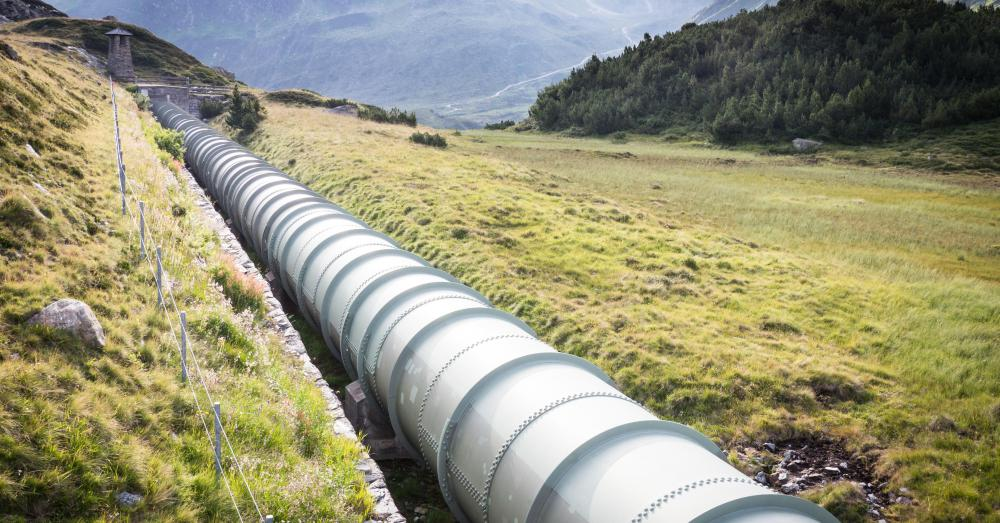 Pipeline is often constructed of mild steel.