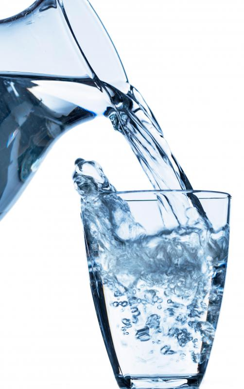 It is commonly believed that a person should drink eight glasses of water per day.