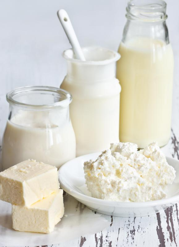 Branched-chain amino acids are common in dairy products.