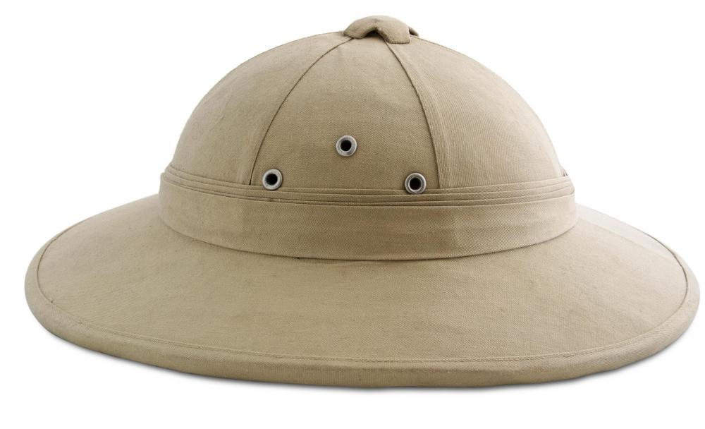 Pith helmets may be worn to provide protection from the sun.