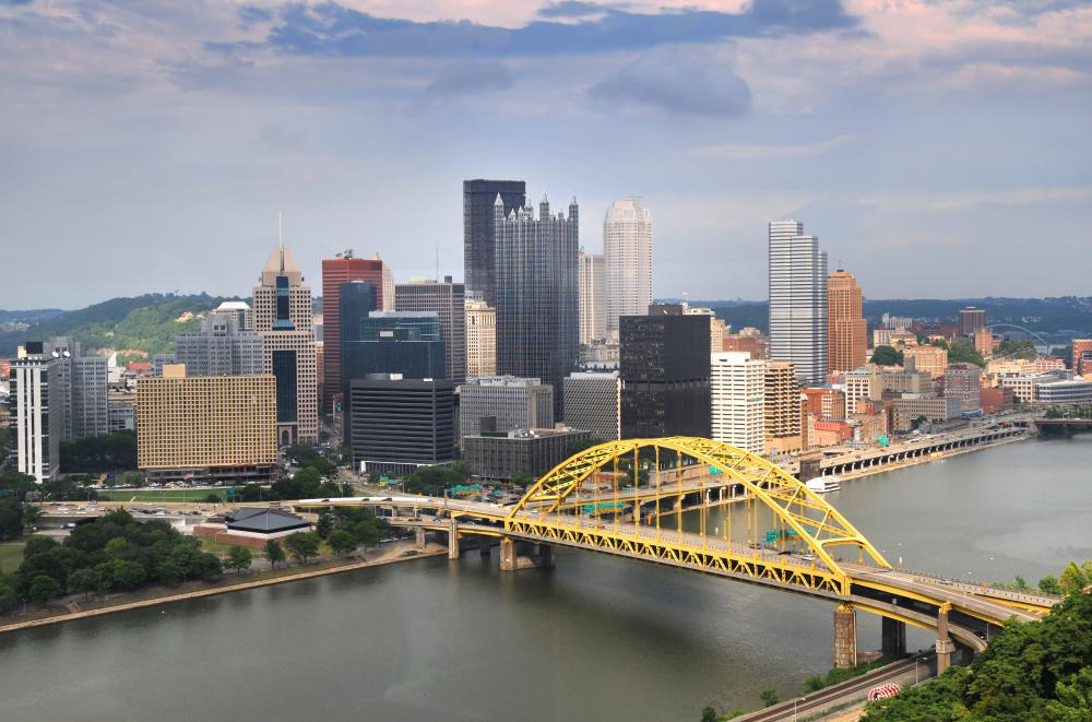 Pittsburgh is known for its connection to the steel industry.
