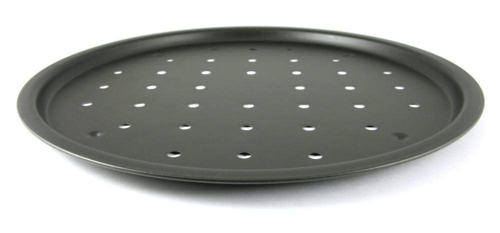 After the dough is made, the pizza itself can be baked in the oven on a pizza pan.
