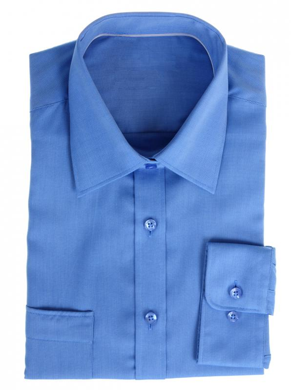 Men's dress shirts typically have point collars or spread collars, which are considered more formal.