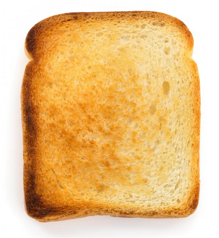 A toaster oven may be used to make toast.