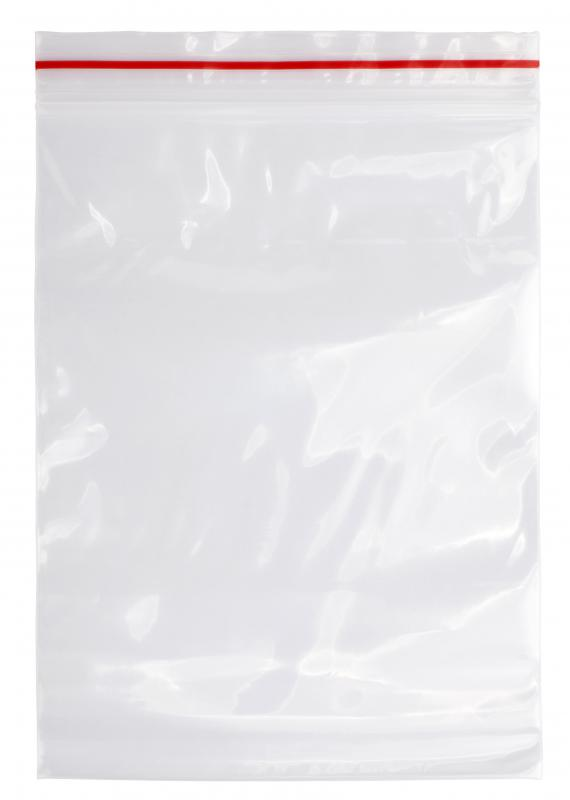 Resealable plastic bags are a common household item made as part of the plastic industry.