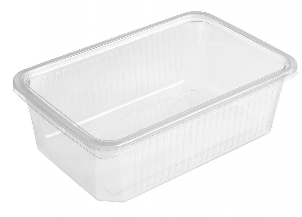 Plastic Tupperware containers are used to store items.