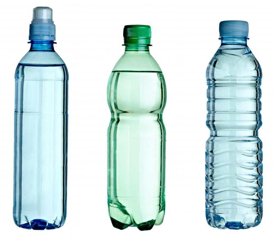Plastic water bottles.