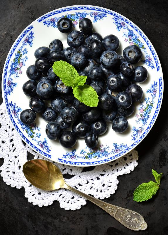 Blueberries are a common ingredient that's added to griddle cakes.
