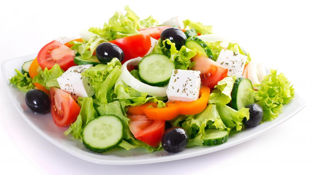 Olive oil is a good choice for salad dressings.