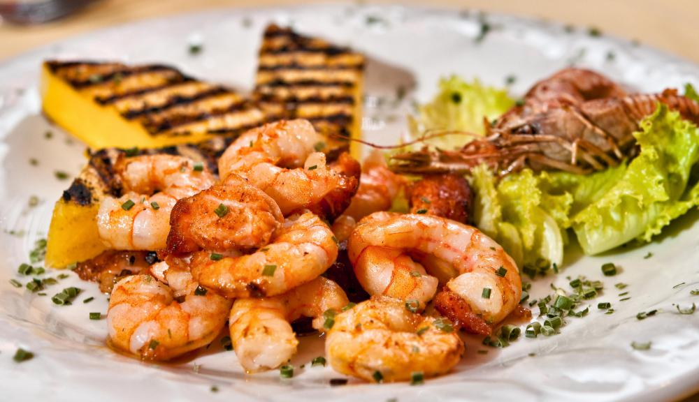 Foods At An Australian Themed Party May Include Shrimp