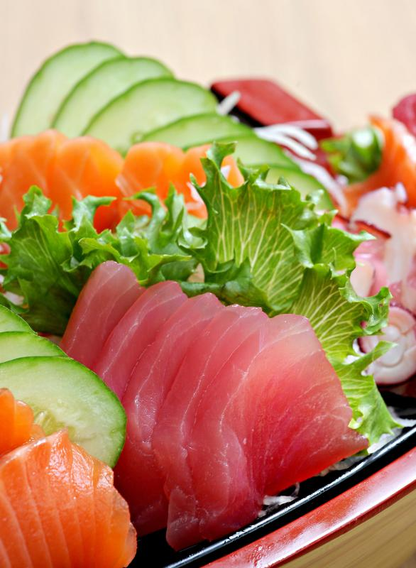 Sashimi can typically be consumed on a low-carb low-fat diet.