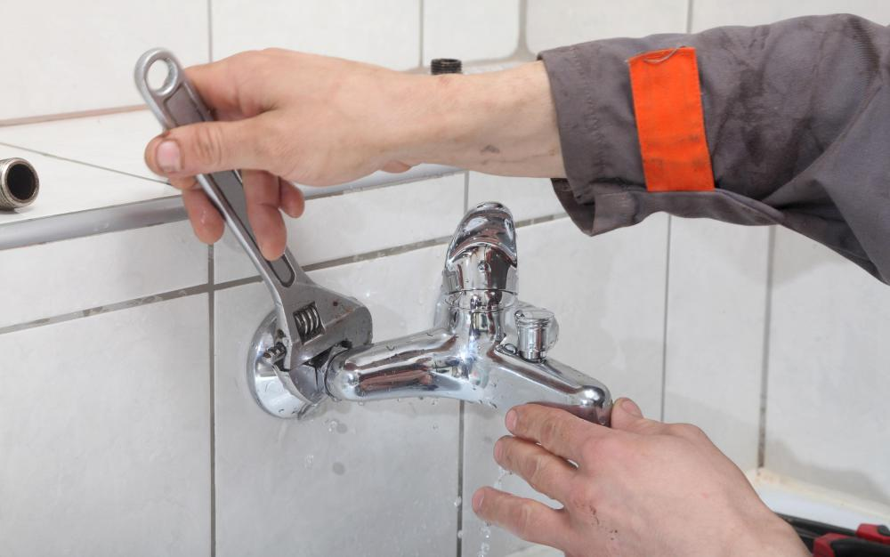 A plumber may be responsible for installing water fixtures.