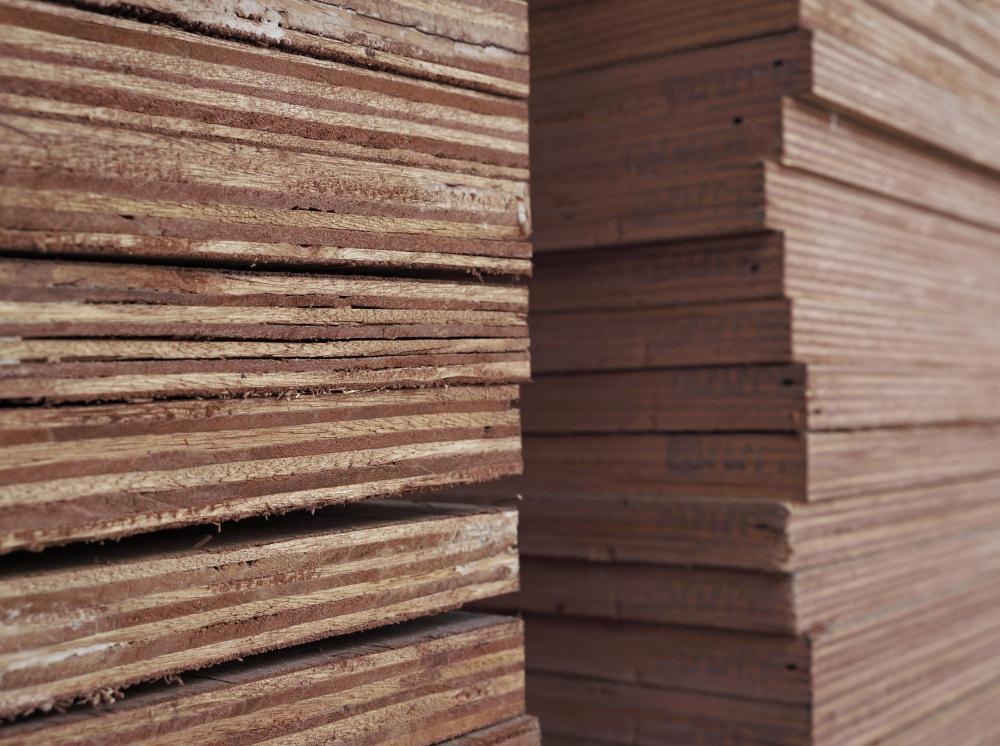 Plywood is a common type of engineered lumber.