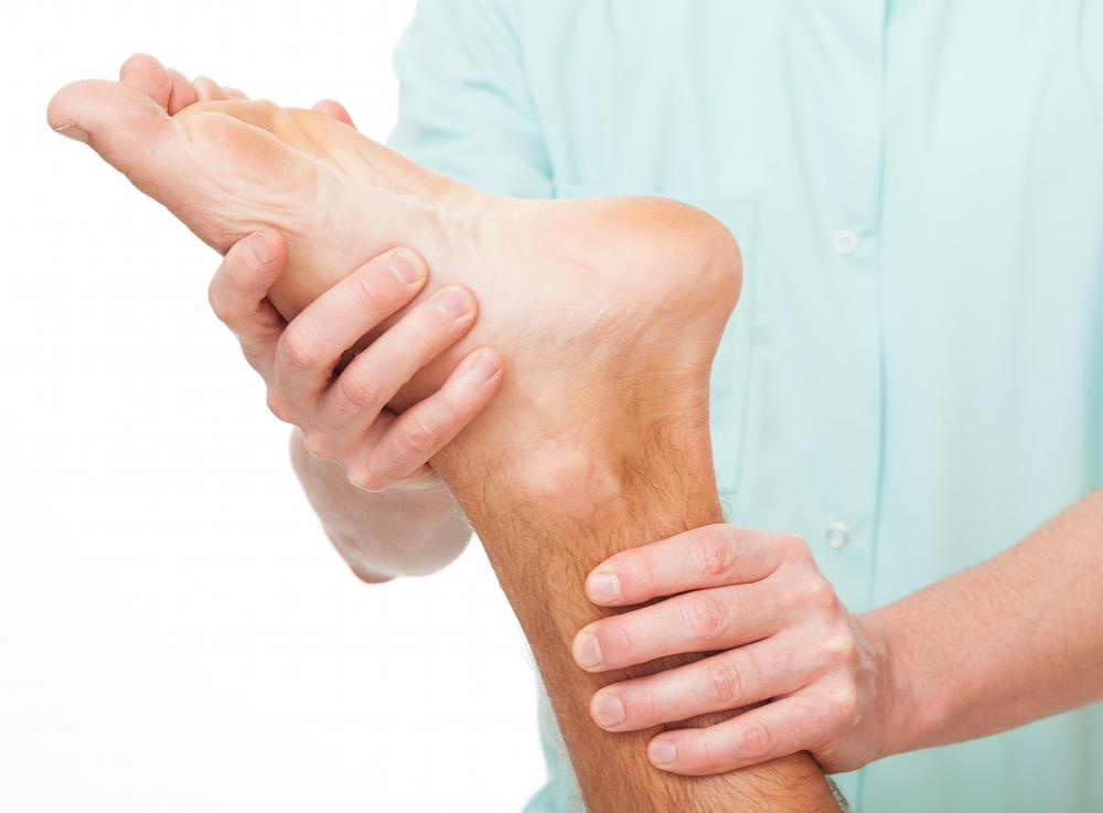In reflexology, every part of the body is said to have a corresponding point on the foot.