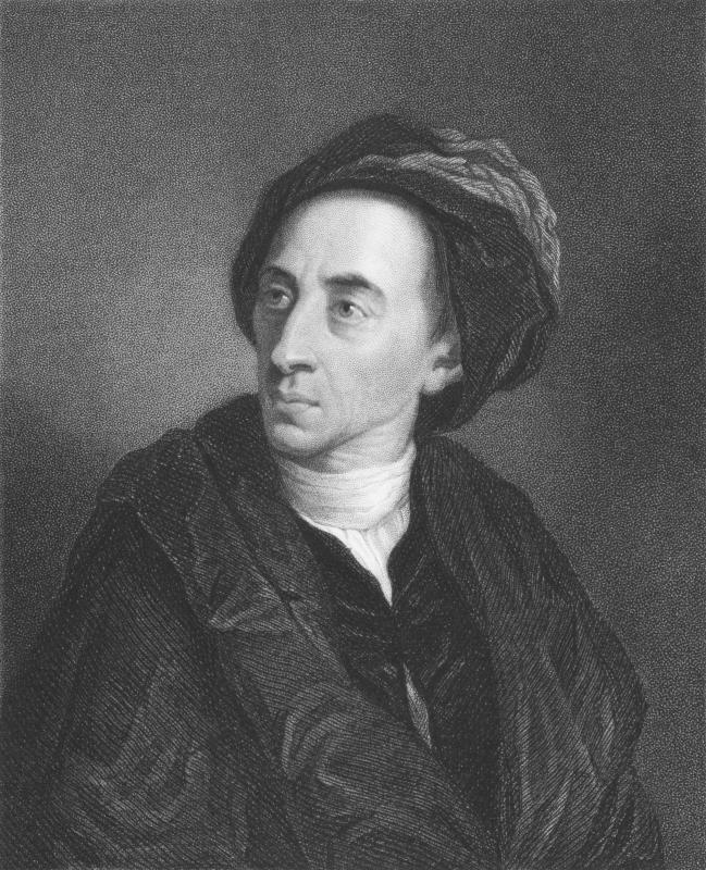 English poet Alexander Pope penned works of neoclassical literature.