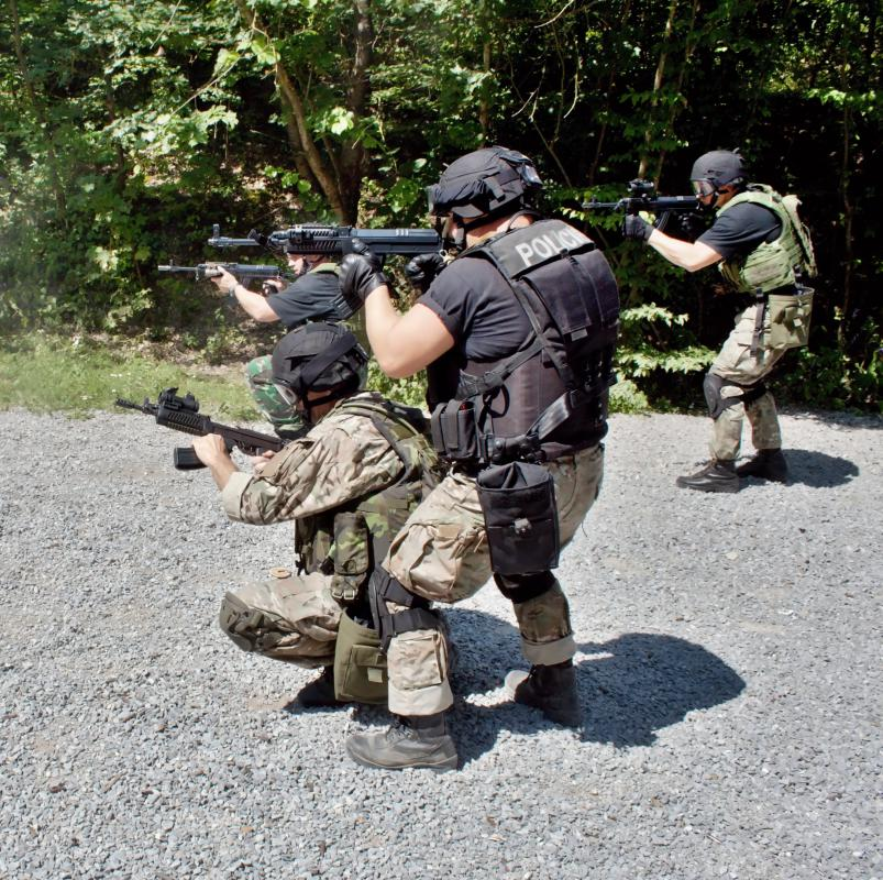 Firearms training is part of border patrol training.