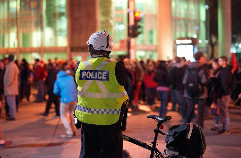 Law enforcement officers may be needed to read the riot act to crowds.