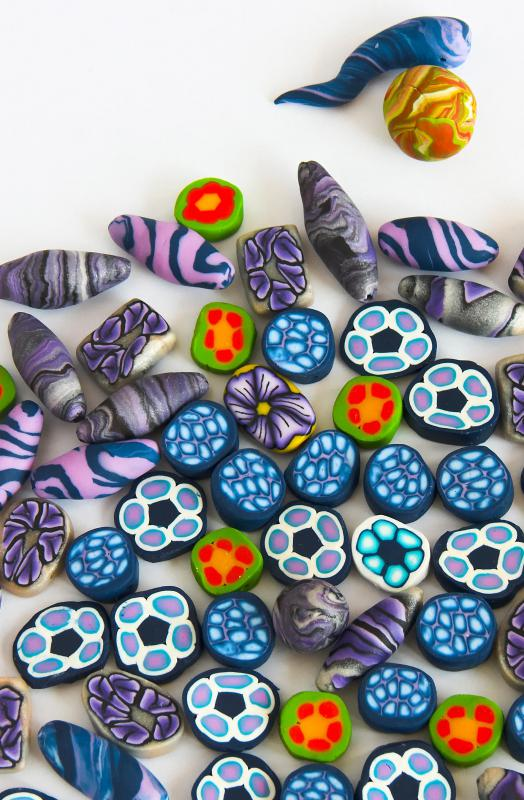Polymer clay can be used to make beads for jewelry.