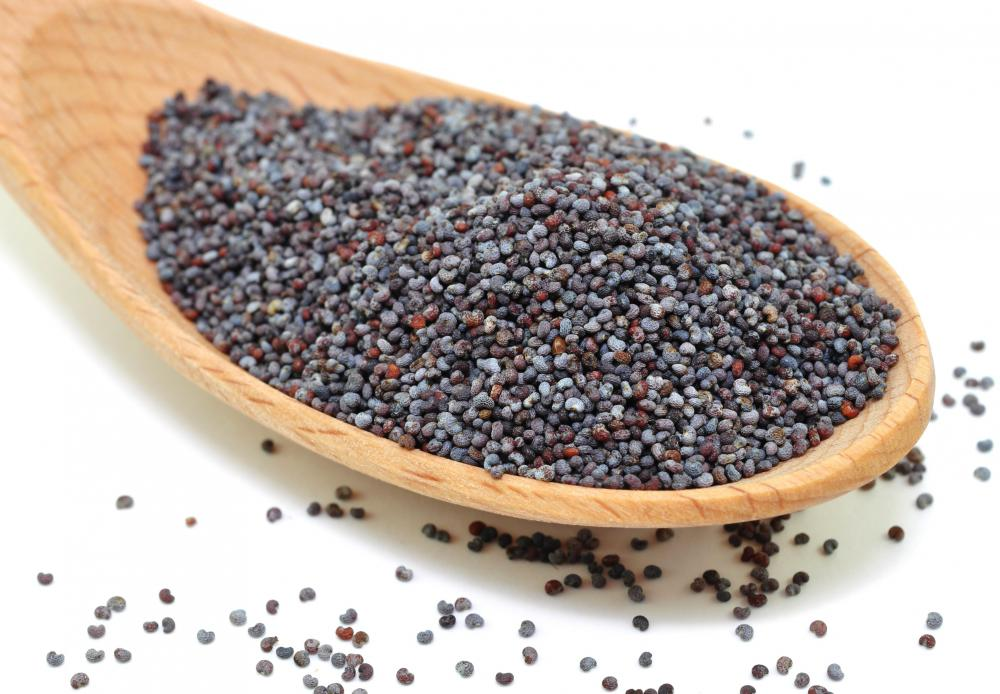 Poppy seeds, which are sometimes used to top bagels.