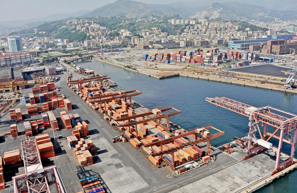 Marine terminals may be constructed near slips that are used to off and onload cargo from barges or other craft that are used on inland waterways.