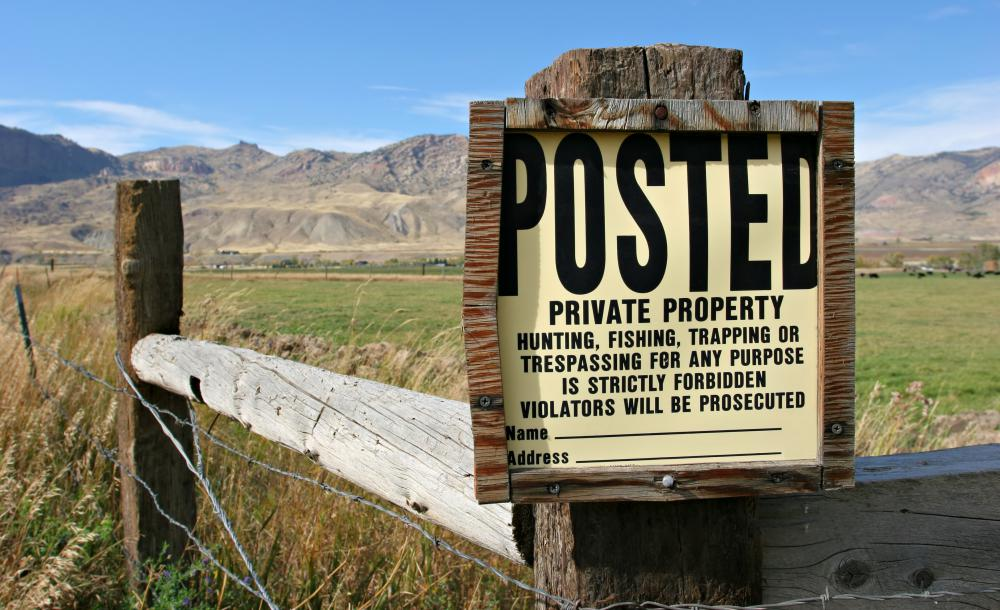 Property rights often pertain to land.
