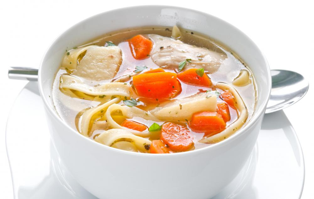 Celery, onion, and carrots are common ingredients in chicken stew and soup.