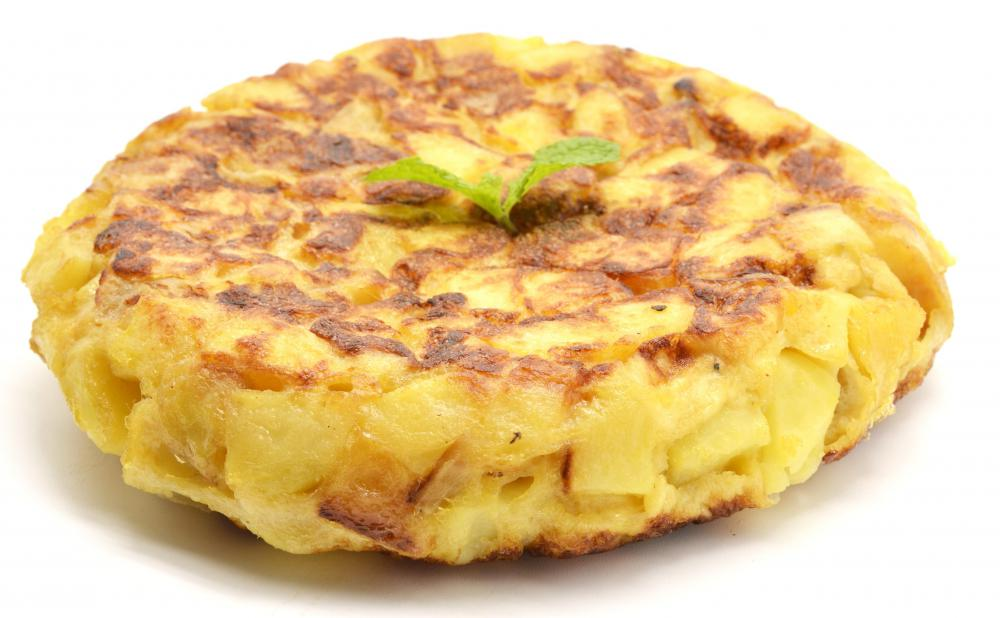 ... de patatas, the Spanish omelette is an egg and potato omelette