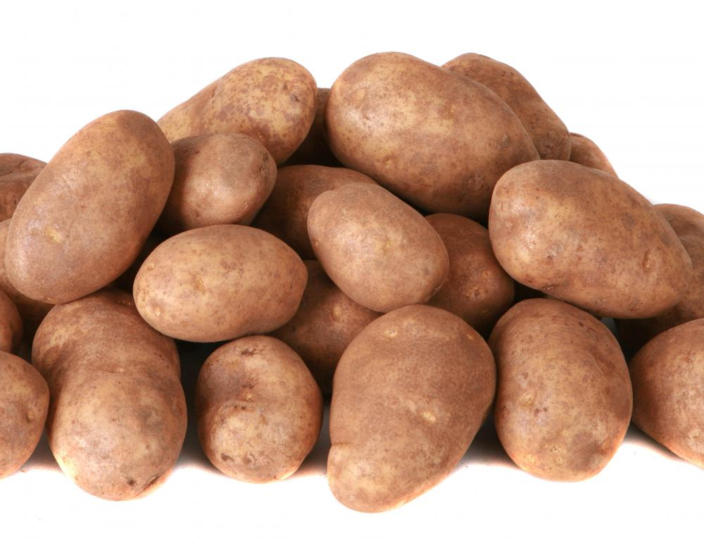 Poiled potatoes are often found in ground beef casserole.