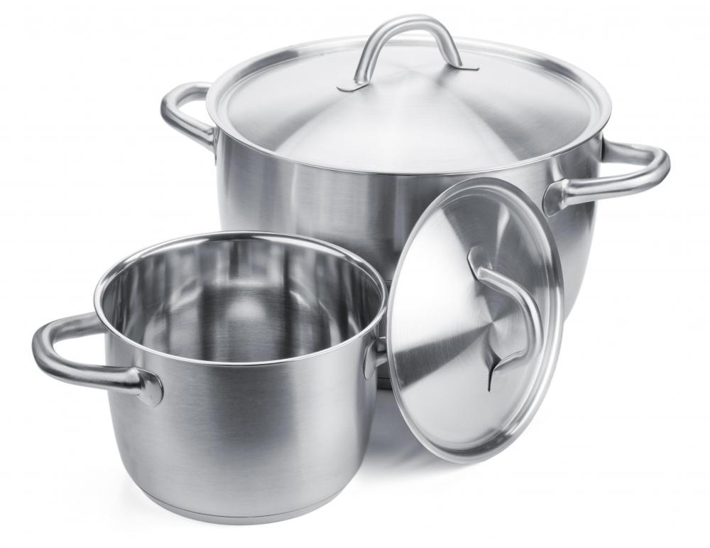 Stainless steel is a type of ferrous metal often used in kitchen supplies.