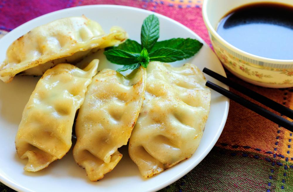Even potstickers--not a traditional Italian food--can be served as antipasti.