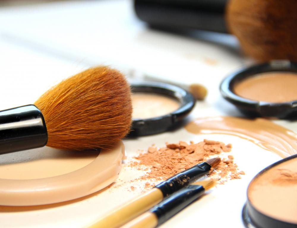 Makeup may be used to cover facial veins.